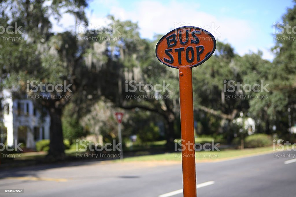Savannah Bus Stop royalty-free stock photo