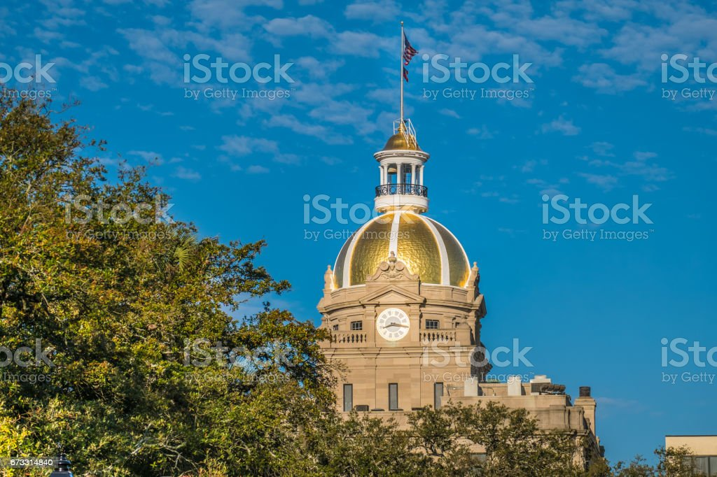 Savannah City Hall, GA, USA stock photo