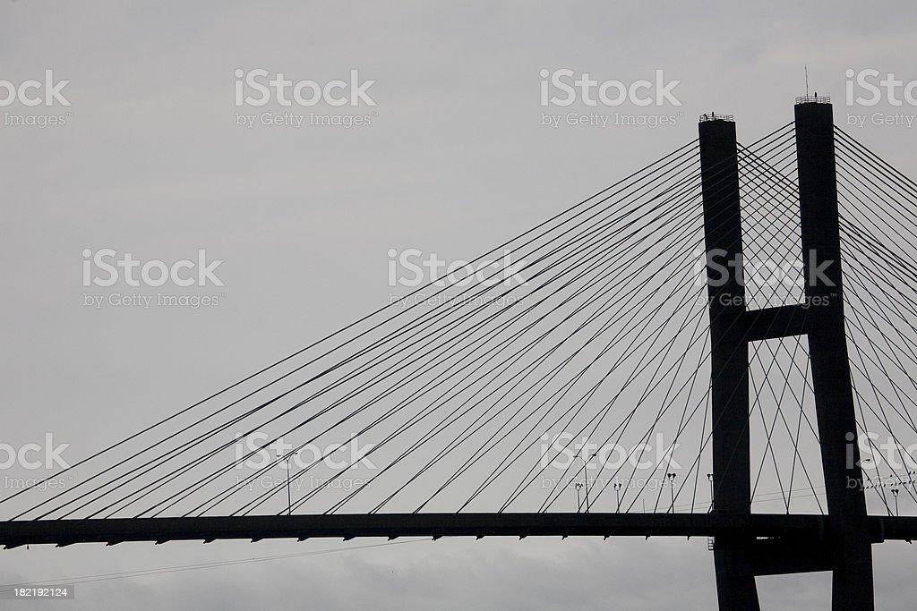Savannah GA: Eugene Talmadge Bridge stock photo