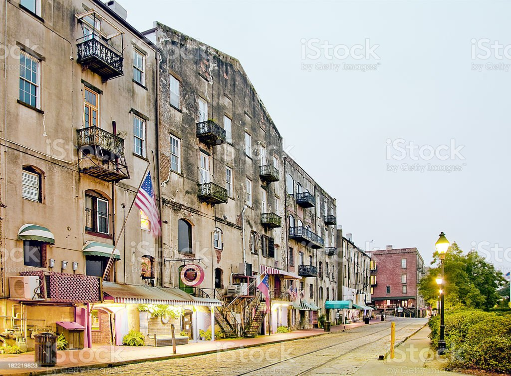 Savannah GA: Factors Walk by the RIver royalty-free stock photo