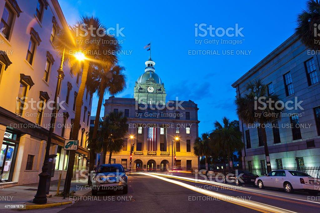Savannah, Georgia City Hall royalty-free stock photo
