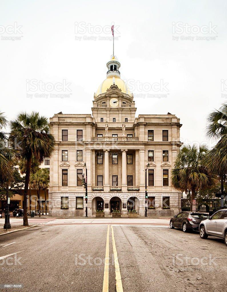 Savannah Georgia USA City Hall stock photo