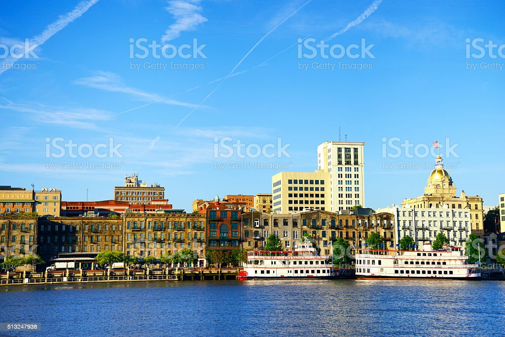 Savannah skyline, Georgia, USA stock photo