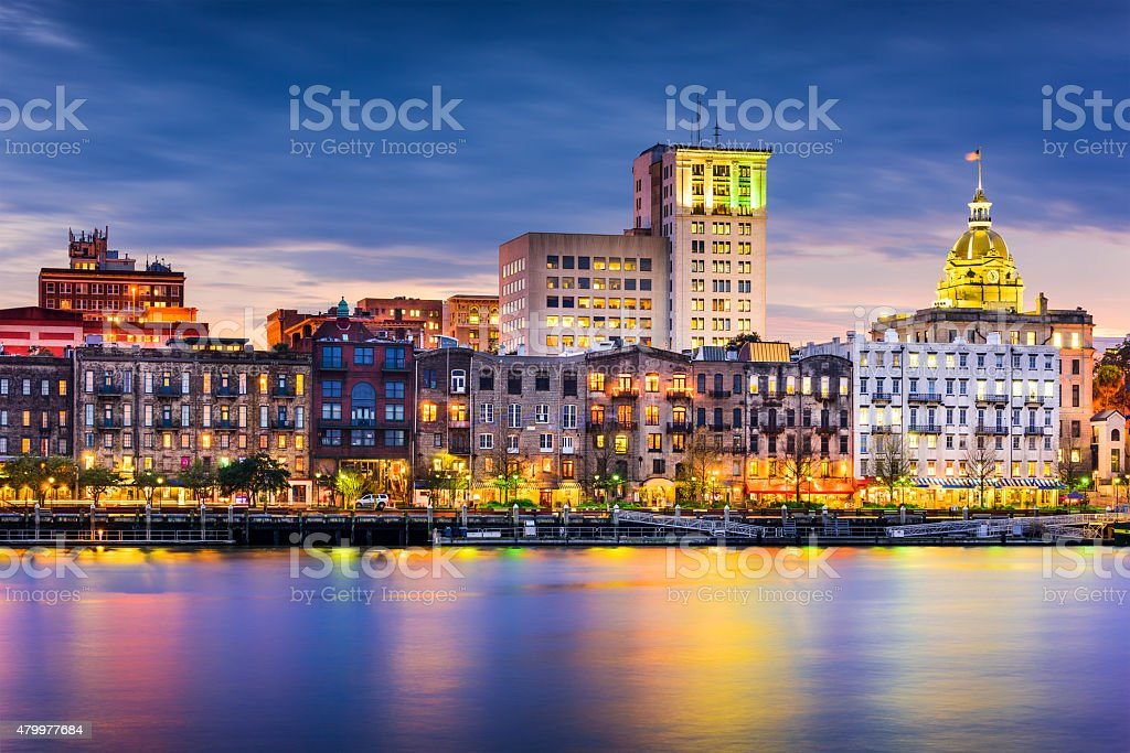 Savannah Skyline stock photo