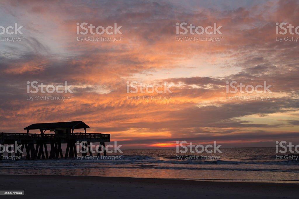 Savannah Sunrise stock photo