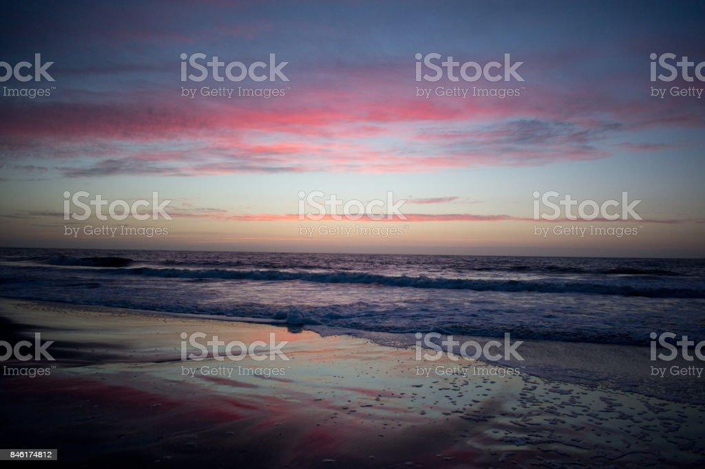 Savannah Sunset stock photo