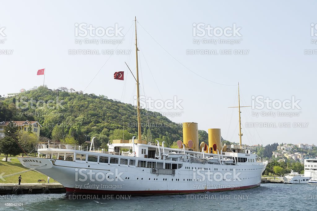 Savarona, Luxury yacht in Istanbul, Turkey stock photo
