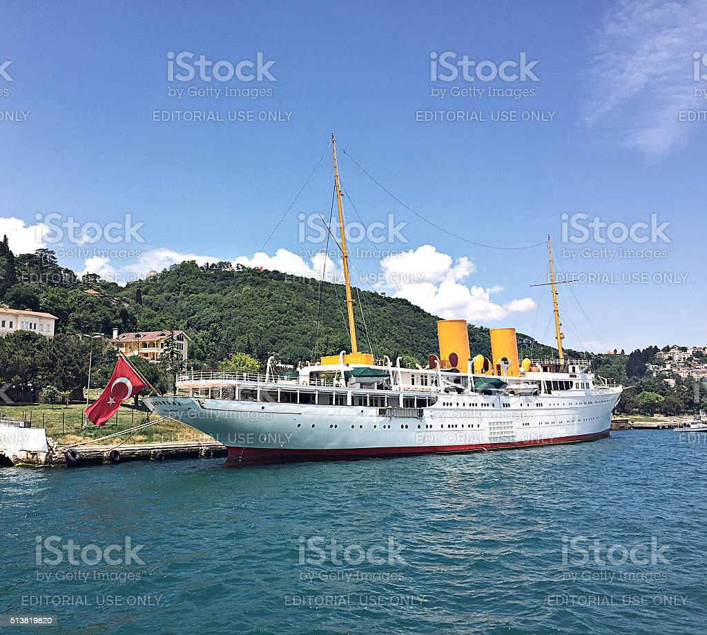 Savarona Yacht stock photo
