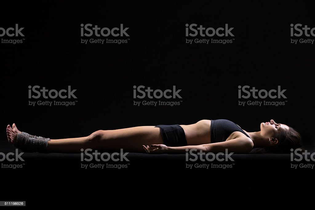 Savasana Yoga Pose stock photo