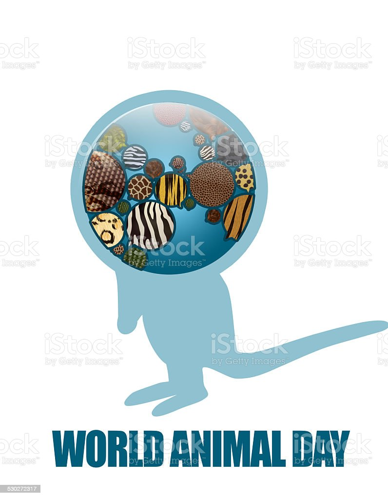 Save animals, Save planet. Earth Icon stock photo
