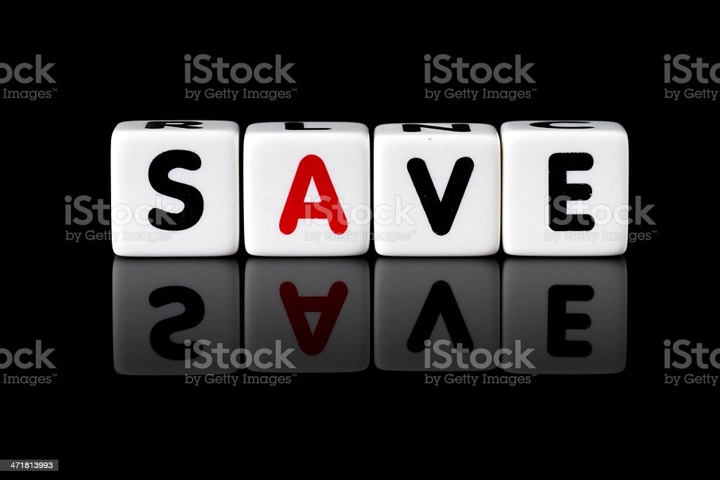 Save Concept royalty-free stock photo