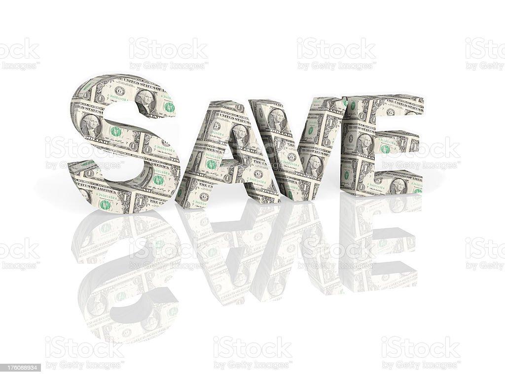 Save Dollars royalty-free stock photo