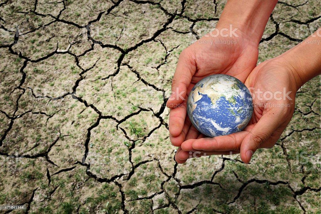 save earth concept stock photo