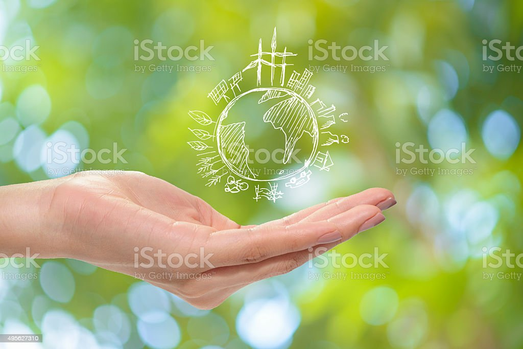 Save earth concept stock photo