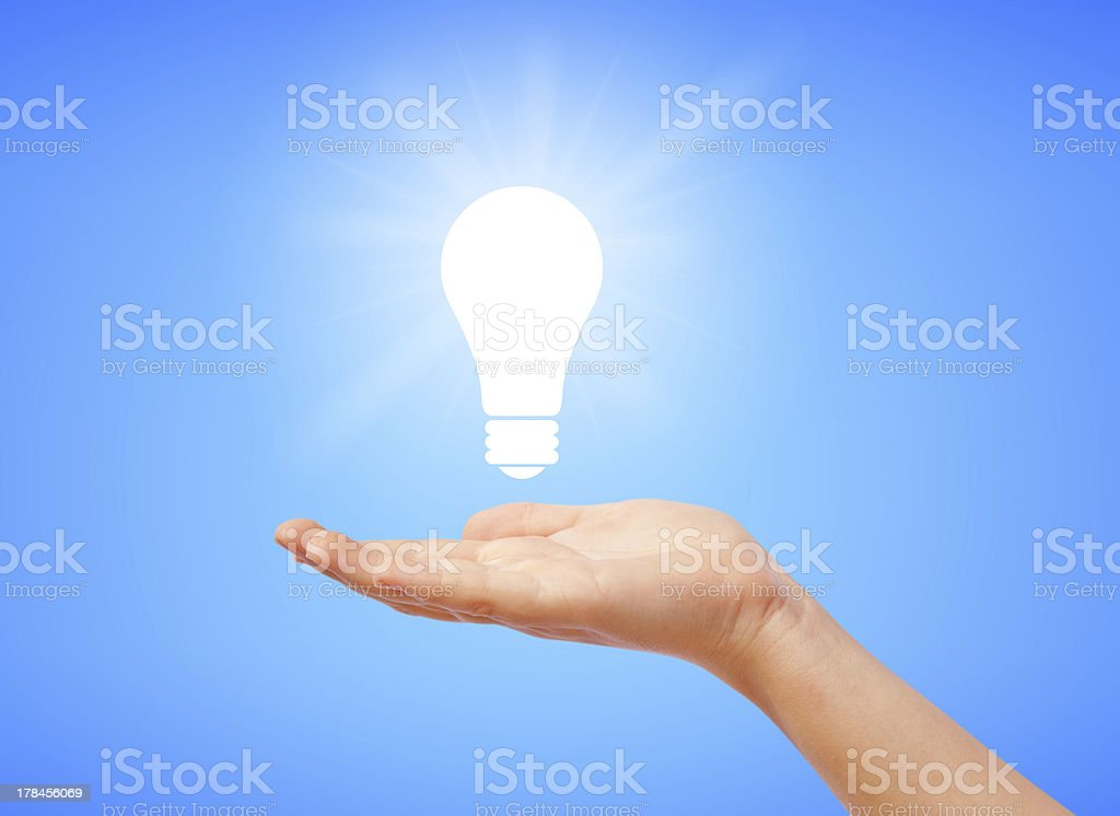 Save electricity royalty-free stock photo