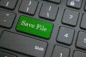 Save file button on keyboard