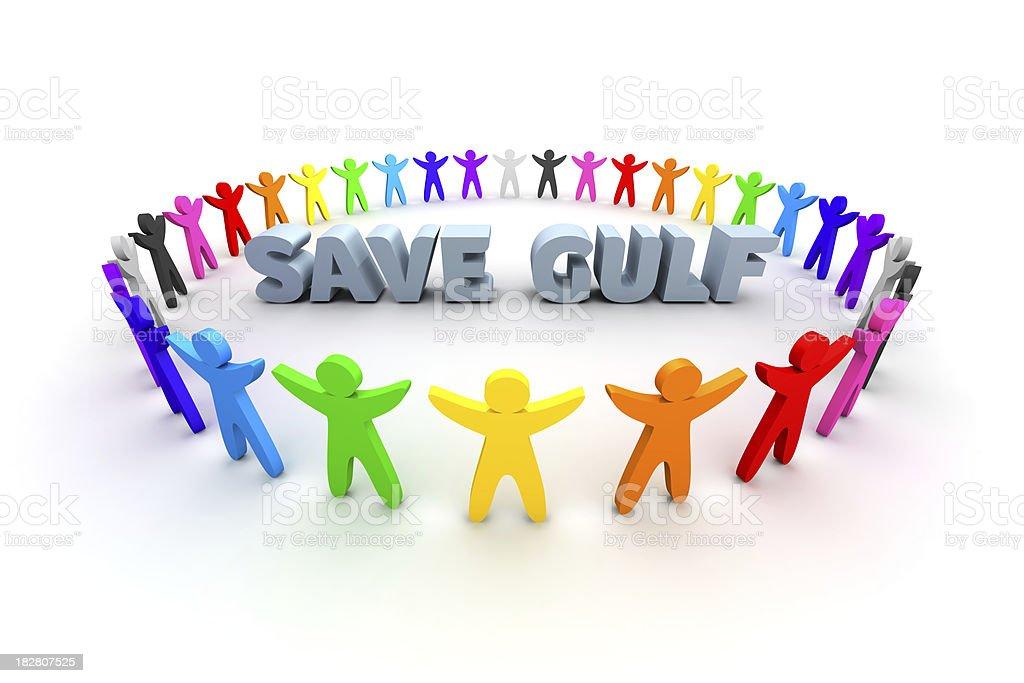 Save Gulf royalty-free stock photo