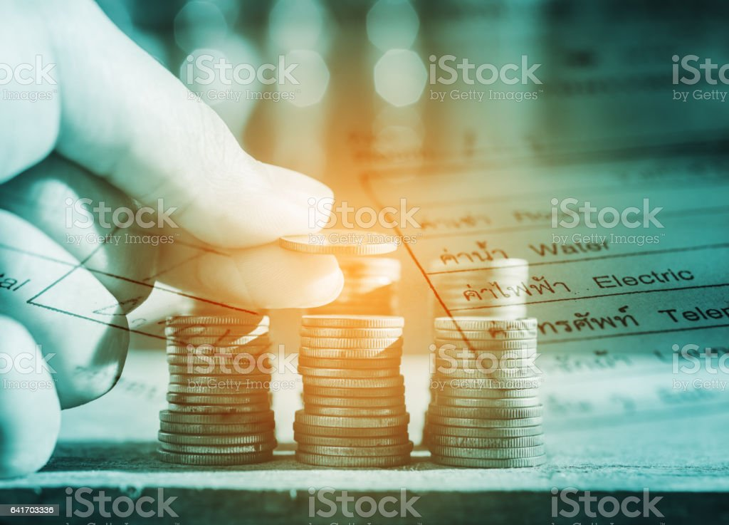 Save money and finance for prepare concept stock photo