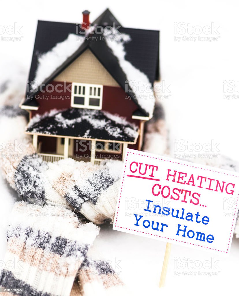 Save Money by Cutting Heating Costs stock photo