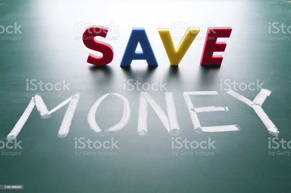 Save money concept royalty-free stock photo
