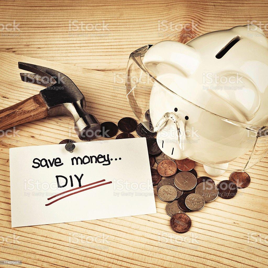 Save Money... DIY royalty-free stock photo
