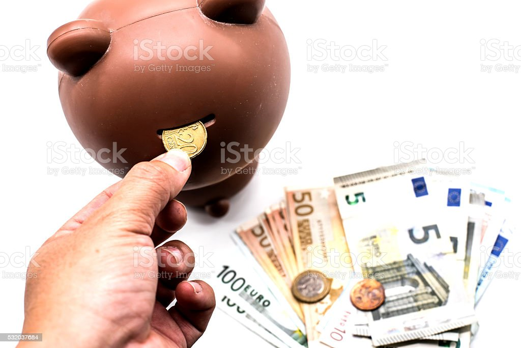 Save Money, Euro currency stock photo