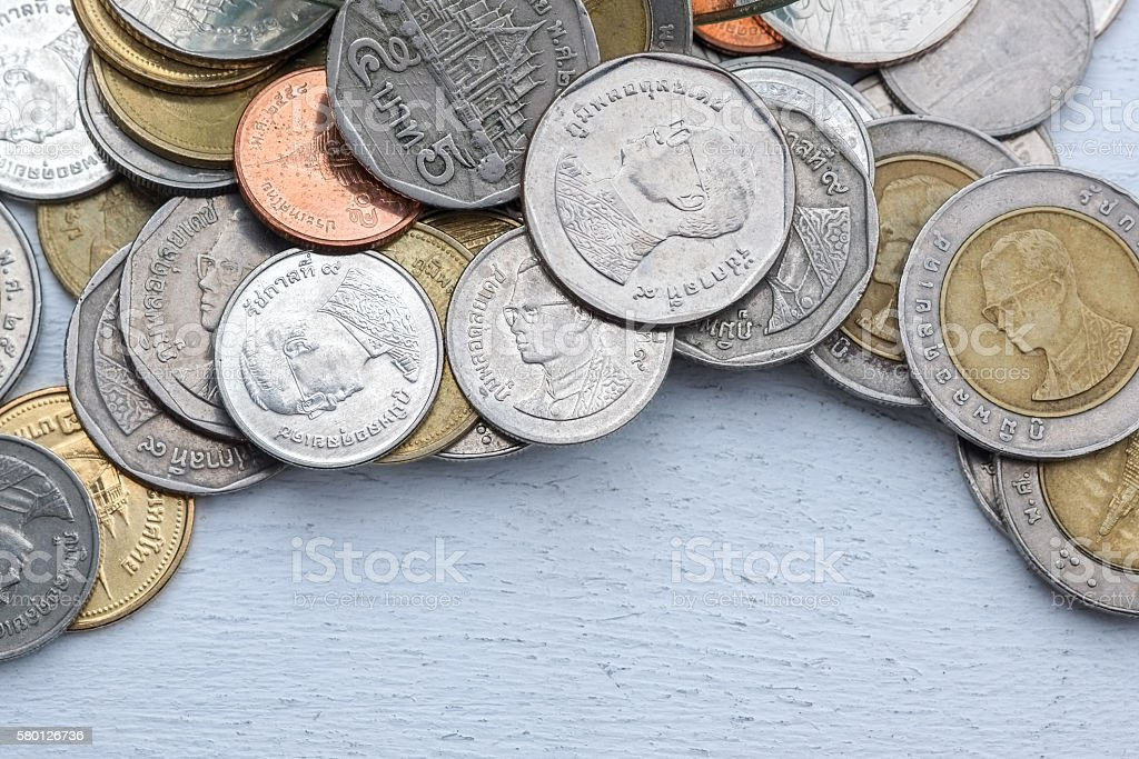 save money for investment concept money on white background stock photo