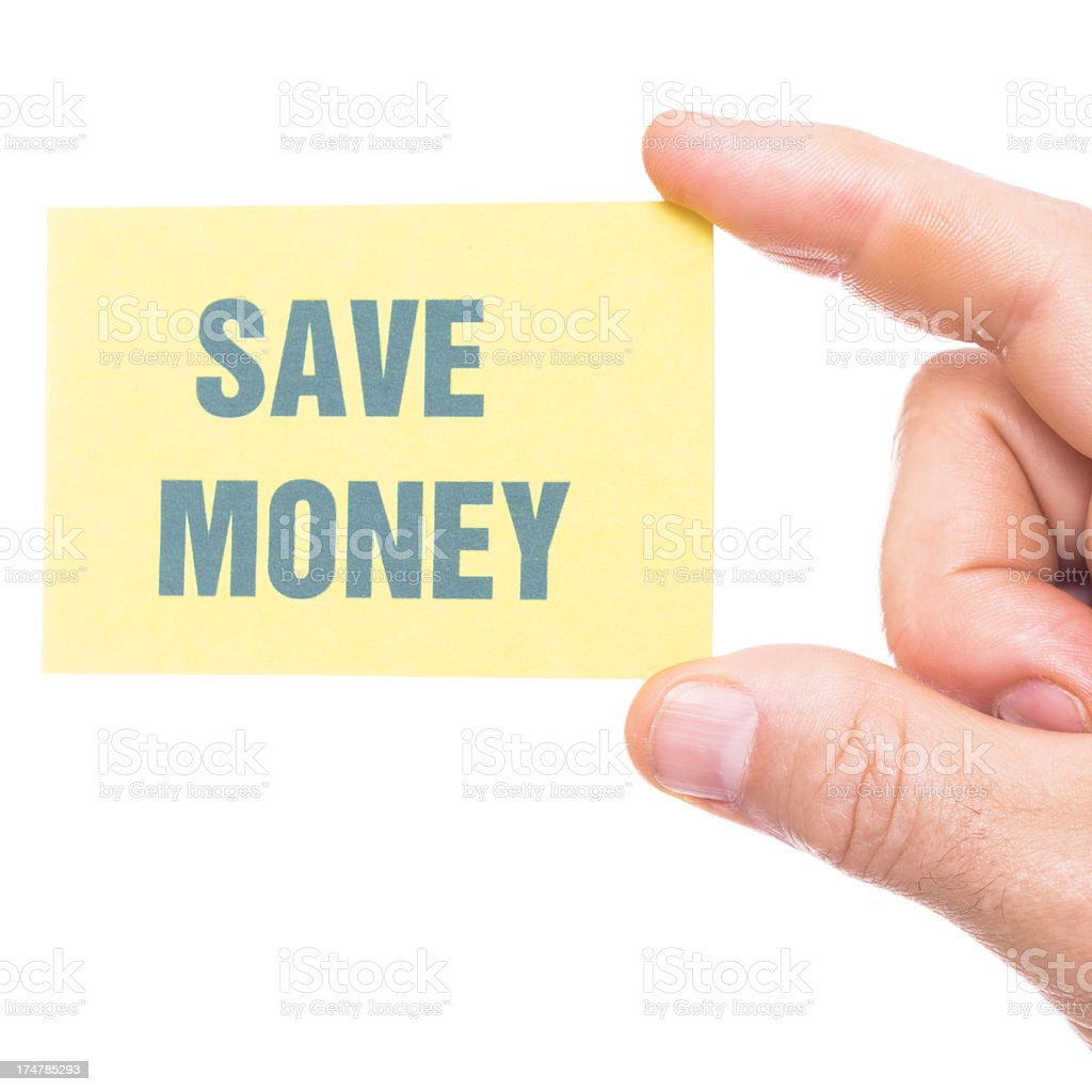 save money greeting card stock photo