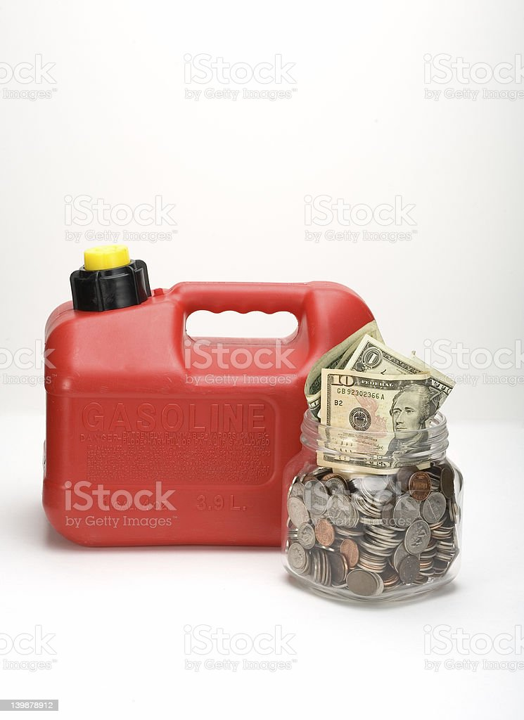 Save Money on Gas royalty-free stock photo