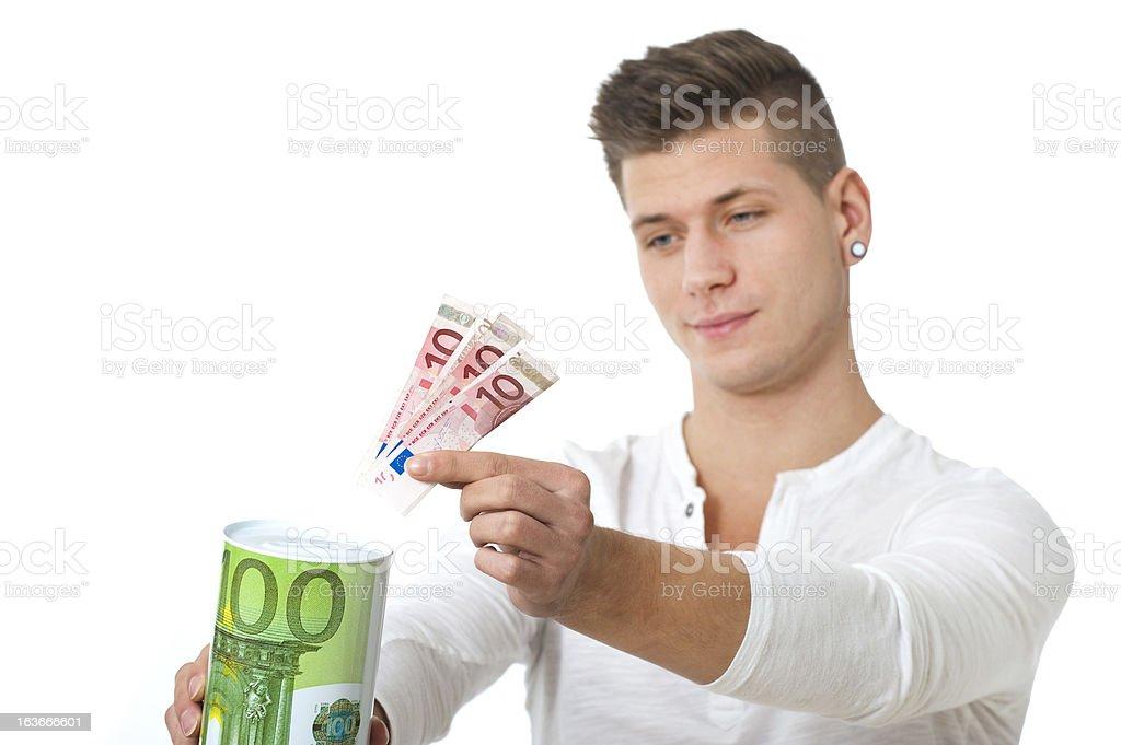 Save money royalty-free stock photo