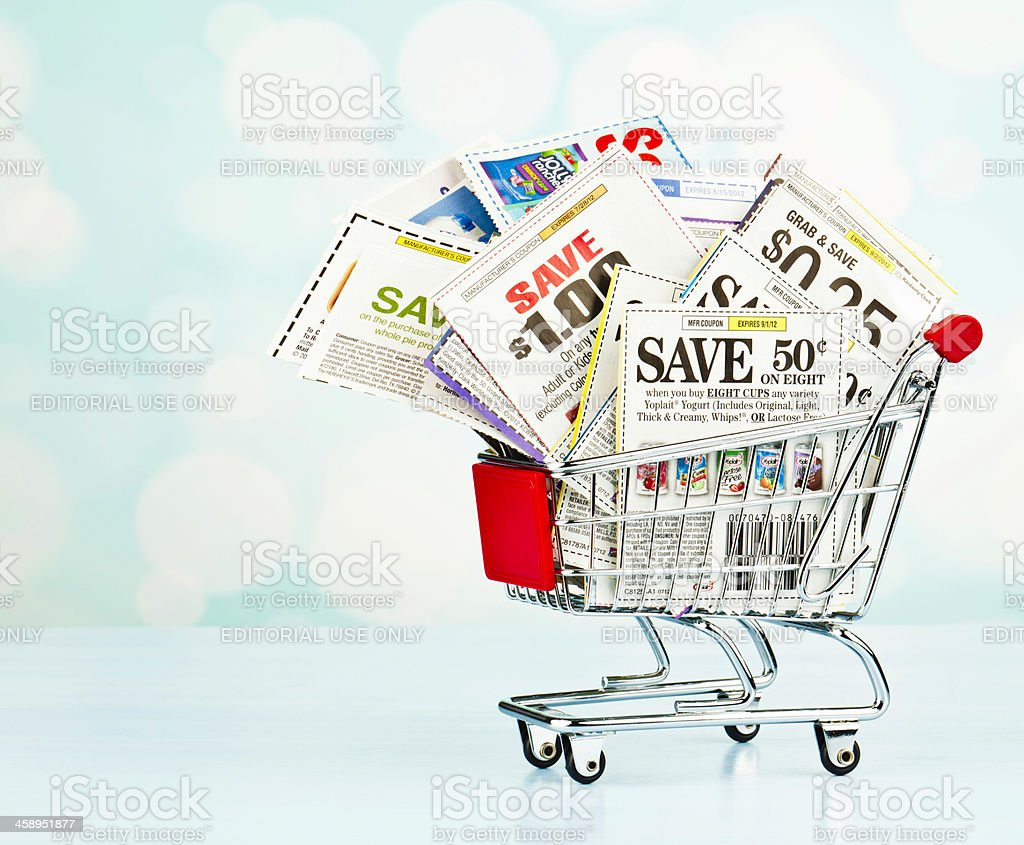 Save Money with Coupons royalty-free stock photo