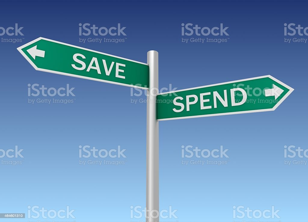 Save or Spend stock photo