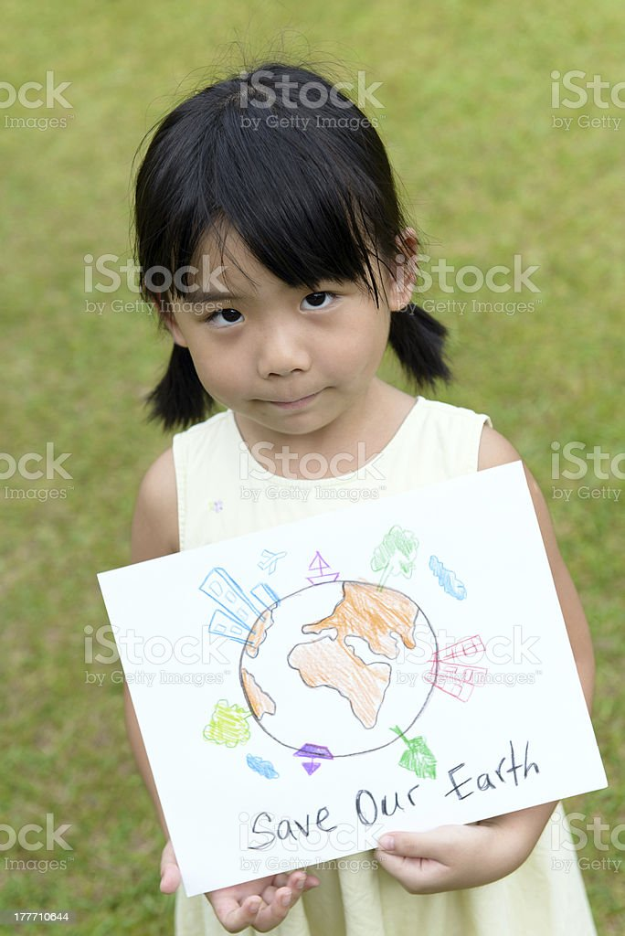 Save our earth royalty-free stock photo