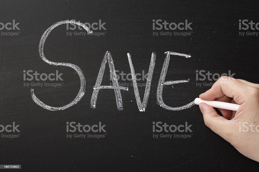 Save! royalty-free stock photo