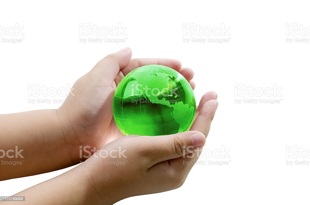 Save Planet Earth royalty-free stock photo