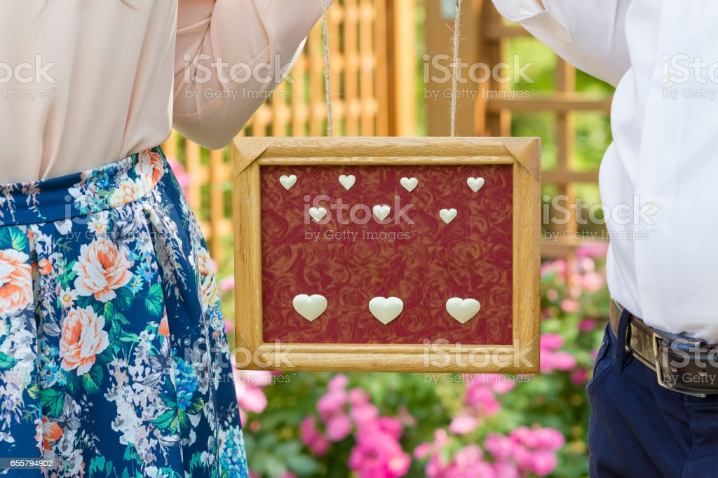 Save the date and engagement concept stock photo