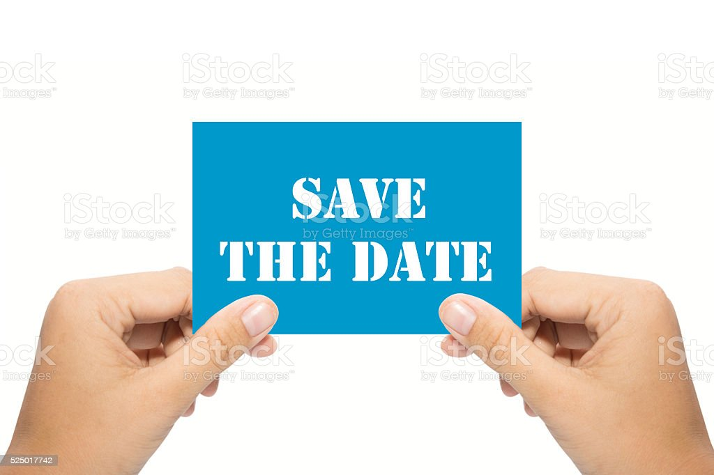 Save the date stock photo