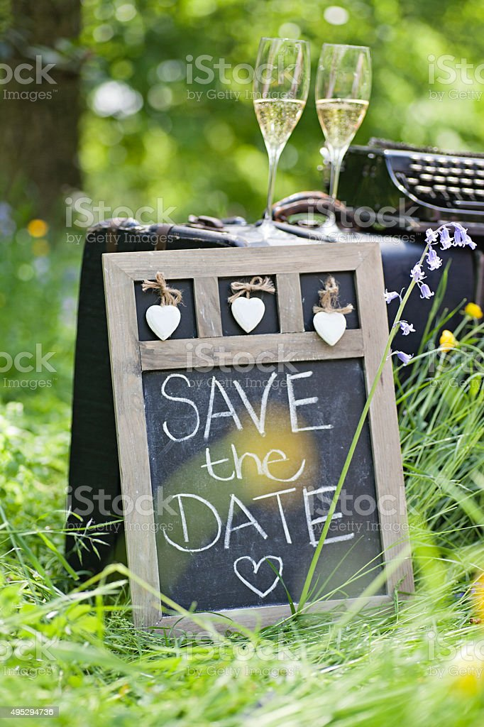 Save the Date sign stock photo