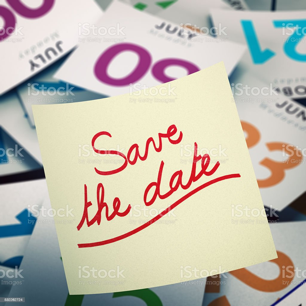 Save the Date, Special Event Communication Concept stock photo