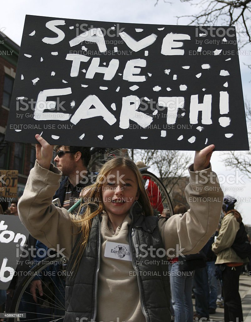 Save the Earth Protest stock photo