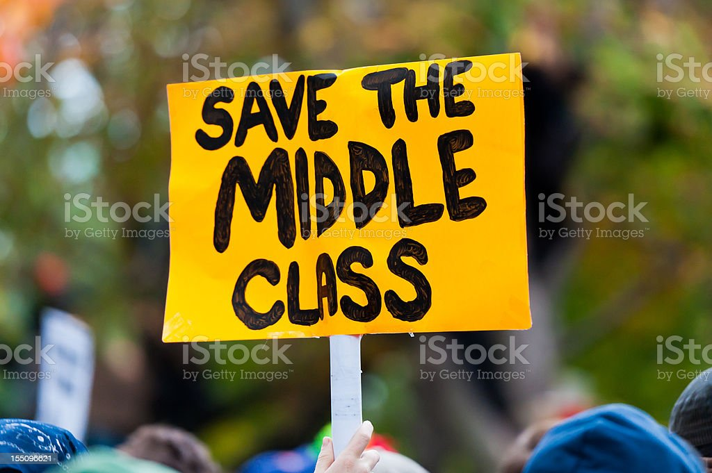 Save the Middle Class royalty-free stock photo