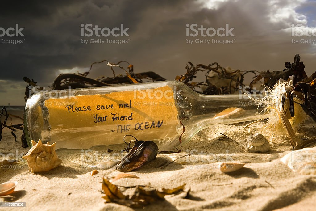 Save the ocean royalty-free stock photo