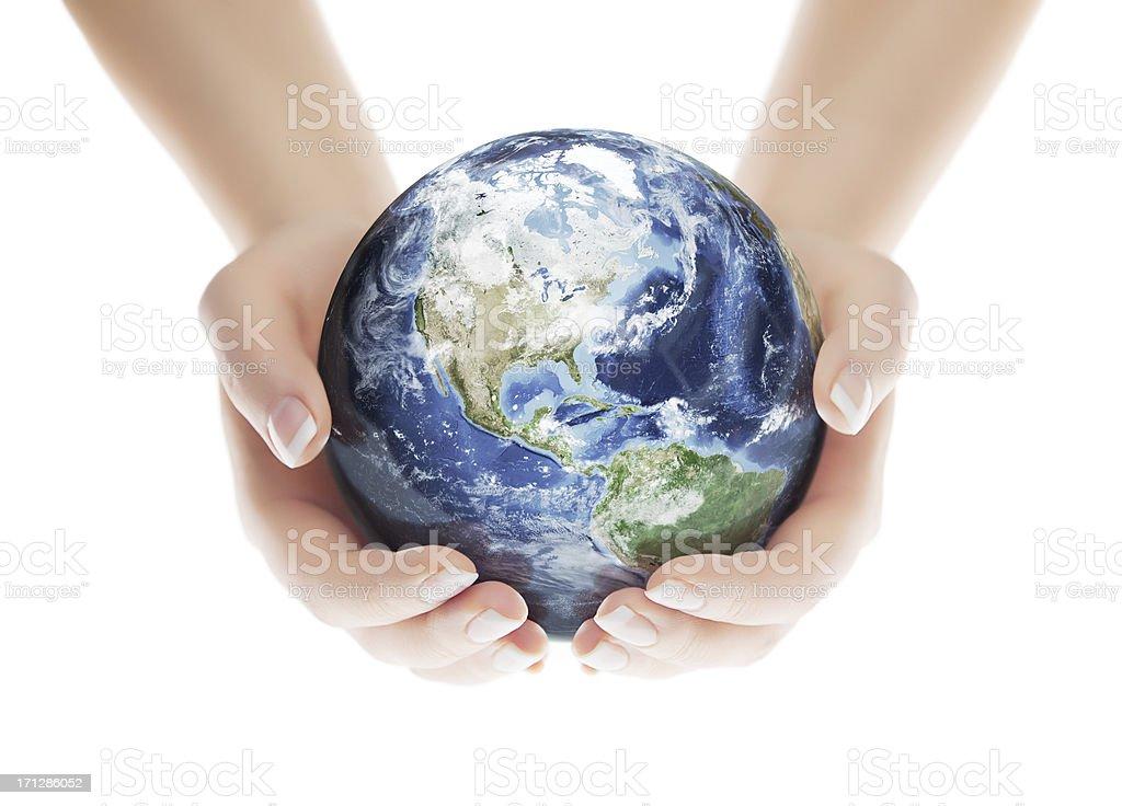 Save the Planet - Americas Western Hemisphere stock photo
