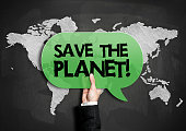 Save the planet / Blackboard concept (Click for more)