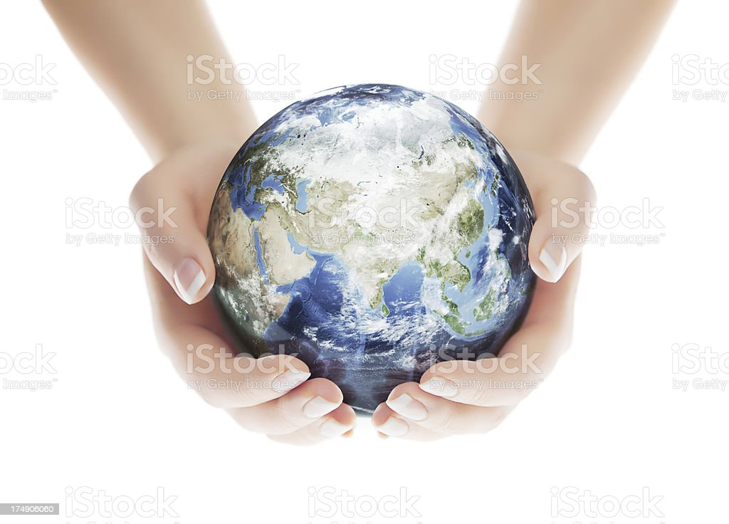 Save the Planet - Eastern Hemisphere royalty-free stock photo