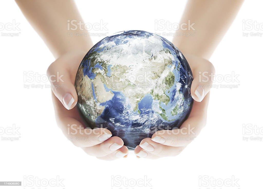 Save the Planet - Eastern Hemisphere stock photo