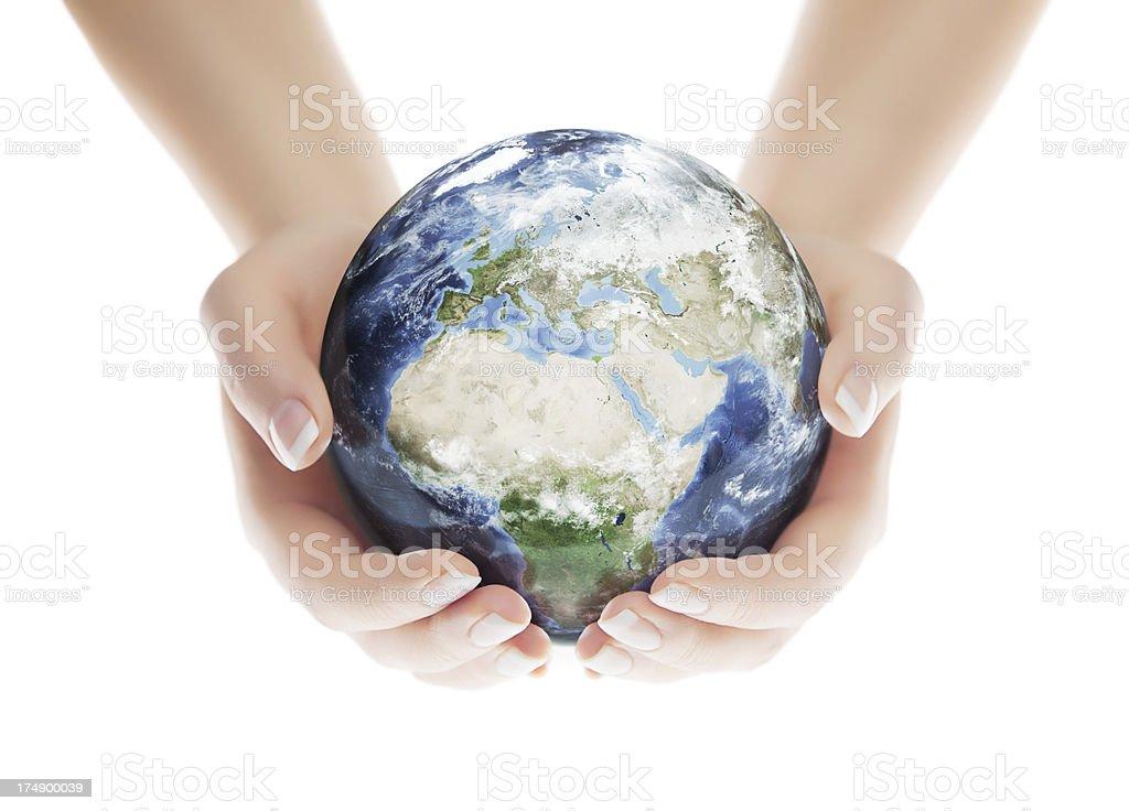 Save the Planet - European Eastern Hemisphere stock photo
