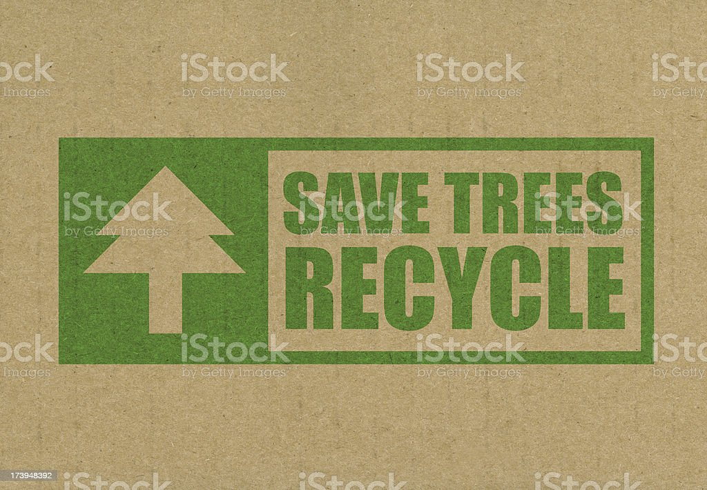 Save trees and recycle royalty-free stock photo
