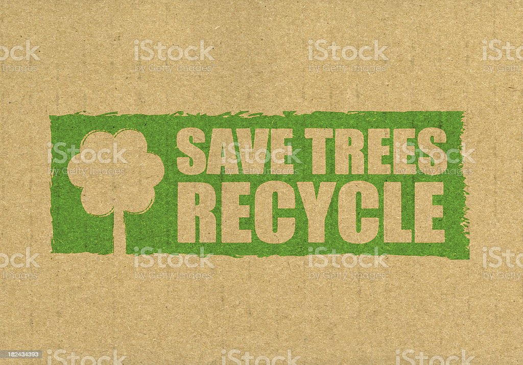 Save trees recycle royalty-free stock photo