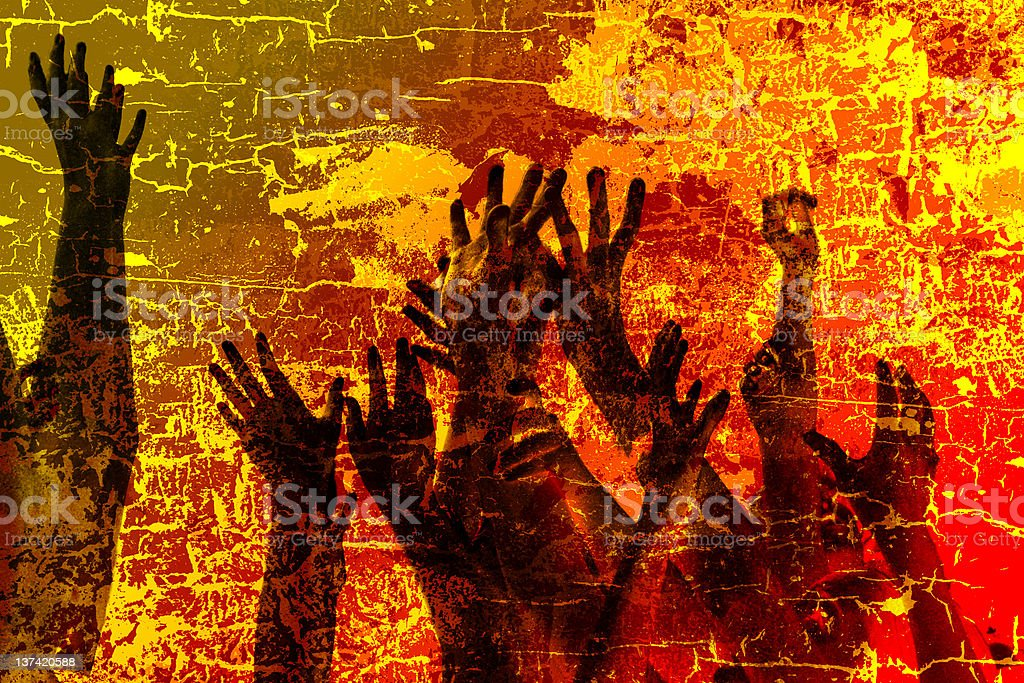 Save us from the fire royalty-free stock photo